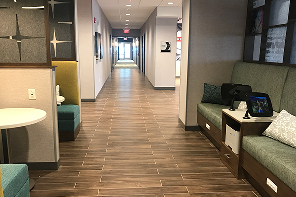 Oversized hallway