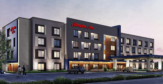 Uniland Northtown Center Hotel rendering